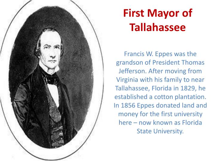 First Mayor of Tallahassee