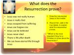 what does the resurrection prove