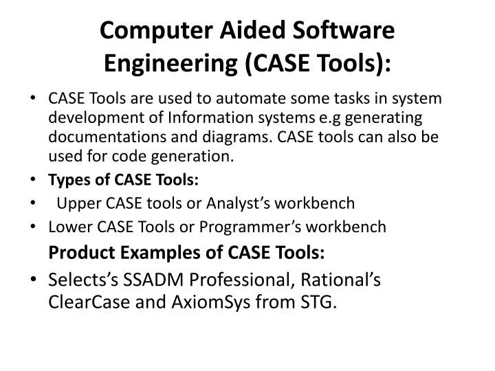 PPT - Computer Aided Software ...
