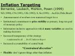 inflation targeting bernanke laubach mishkin posen 1999