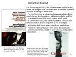 mccarthy s downfall