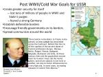 post wwii cold war goals for ussr
