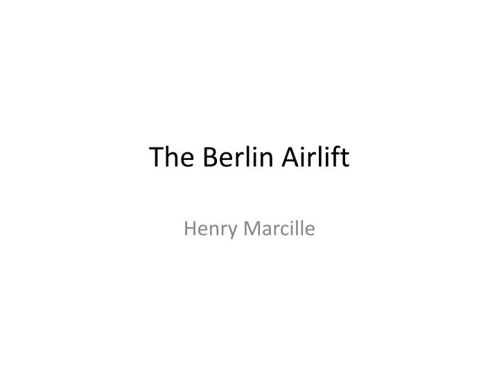 the berlin airlift n.