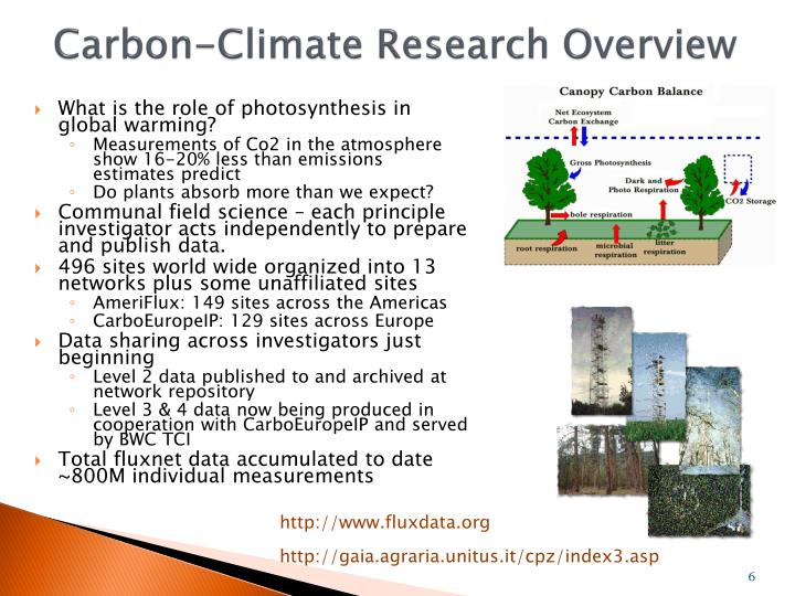 Carbon-Climate Research Overview