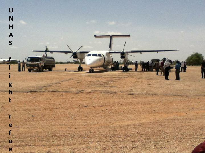 UNHAS flight refueling at
