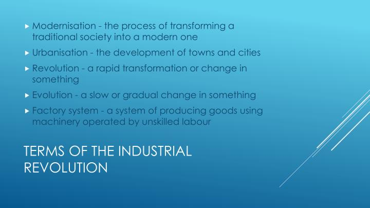 Modernisation - the