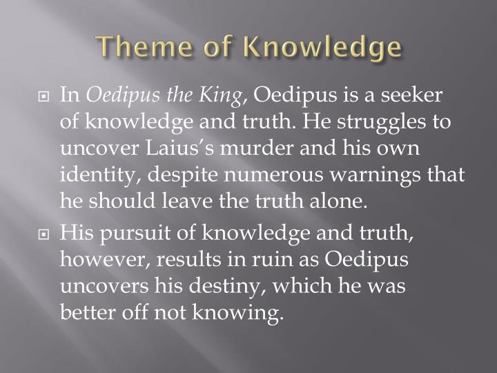 theme of knowledge