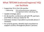what tbteam national regional hq can facilitate