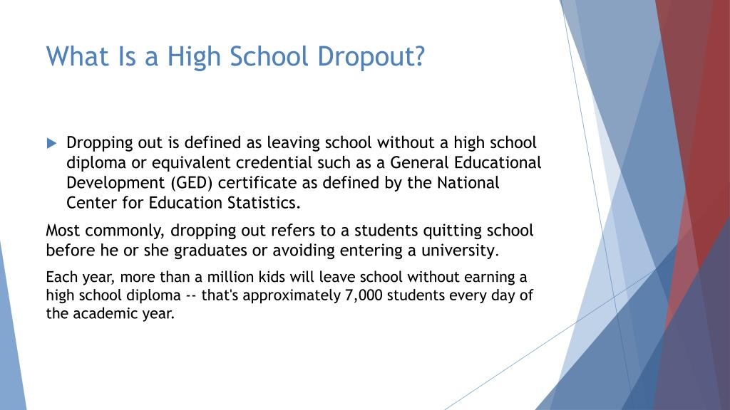 PPT - High School Dropouts PowerPoint Presentation - ID:2875609