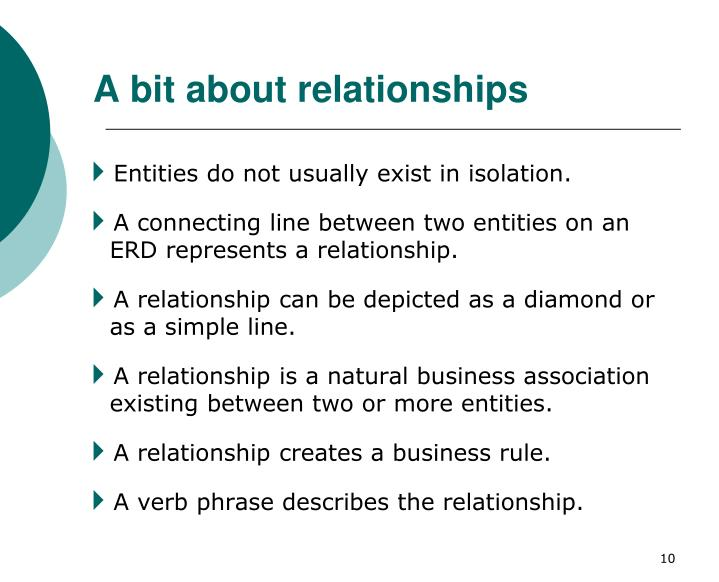 A bit about relationships