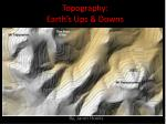 topography earth s ups downs