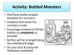 activity bottled monsters