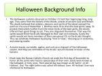 halloween background info