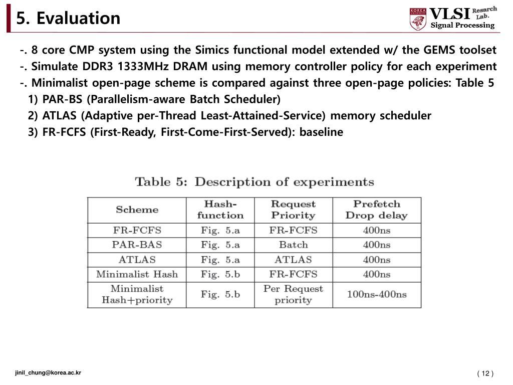 PPT - Korea University, VLSI Signal Processing Lab  Jinil Chung