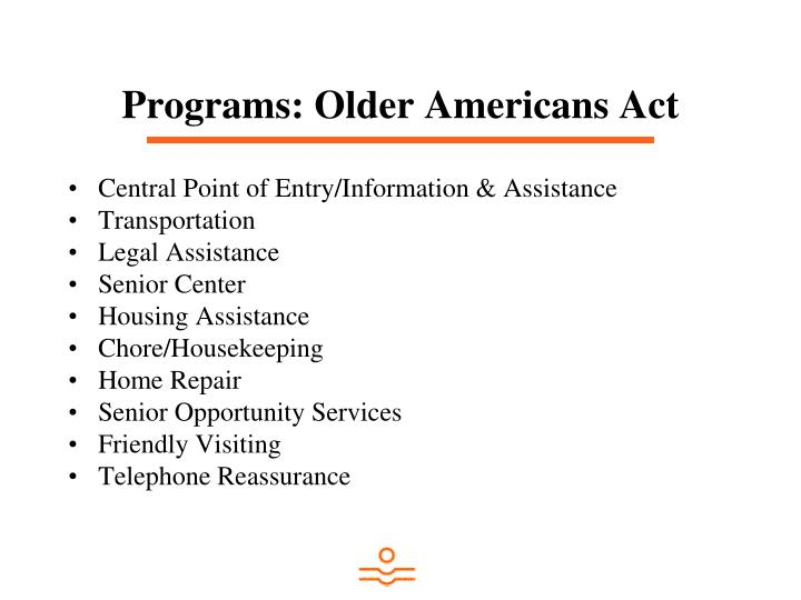 Programs: Older Americans Act