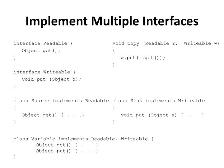 Implement Multiple Interfaces