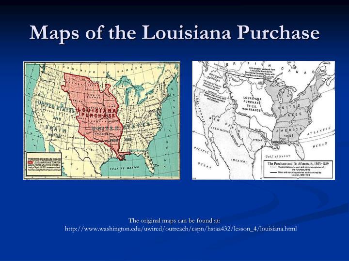 Maps of the Louisiana Purchase