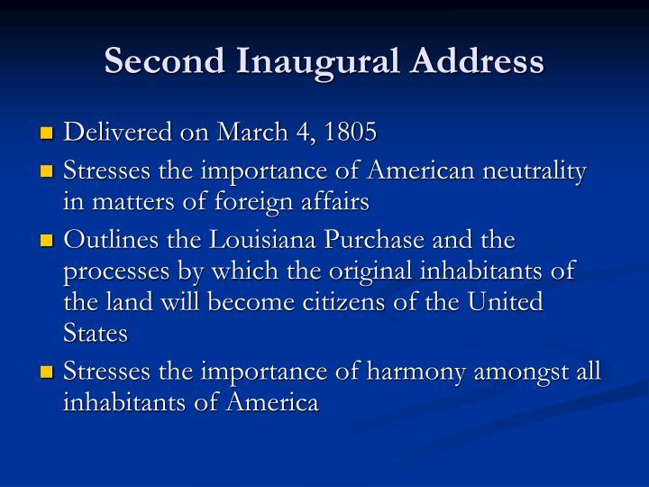Second Inaugural Address