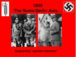 1936 the rome berlin axis