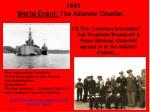 1941 world event the atlantic charter
