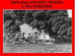 battleships uss west virginia uss tennessee