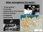 hitler strengthens his power