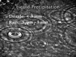 liquid precipitation