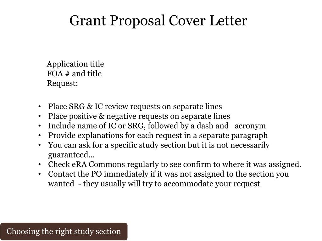 Grant Proposal Cover Letter from image1.slideserve.com