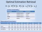 optimal estimation retrieval