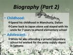 biography part 2