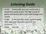 listening guide10