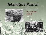 takemitsu s passion