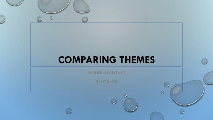 comparing themes n.