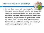 how do you show empathy