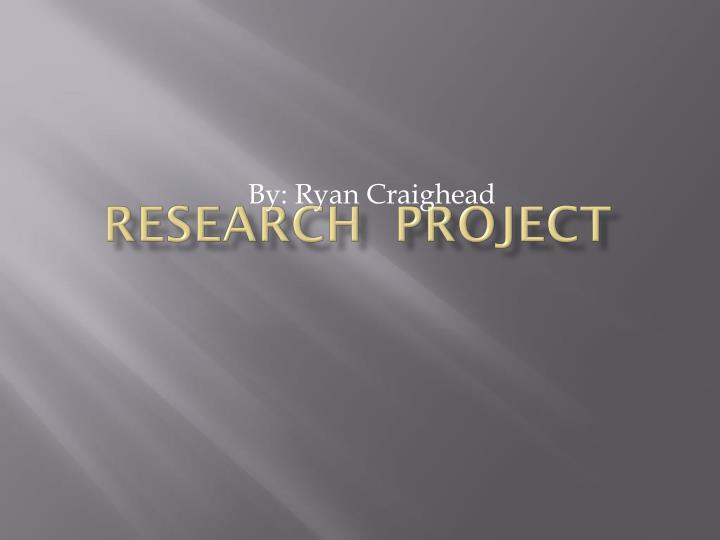 research project n.