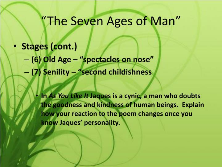 explanation of seven ages of man