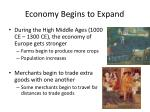economy begins to expand