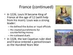 france continued