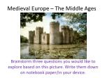 medieval europe the middle ages