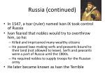 russia continued1