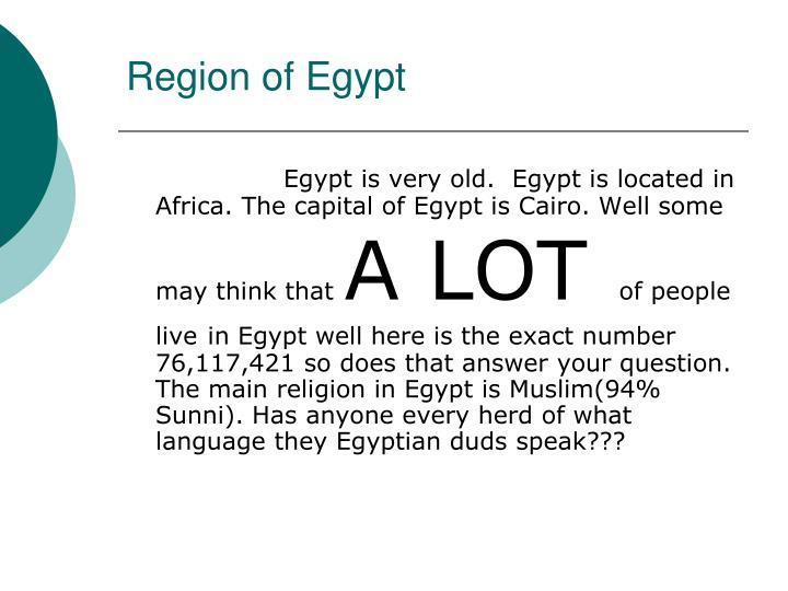 Region of egypt
