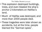 the halifax disaster continued