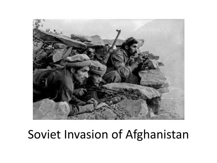 soviet invasion of afghanistan essay The soviet invasion in afghanistan elicited a strong reaction from all over the world the united states condemned the occupation immediately we sent hundreds of millions of dollars worth of guns and food to afghanistan to aid the mujahidin and the refugees.
