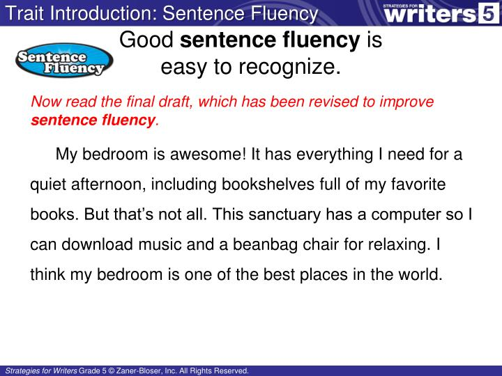 Trait Introduction: Sentence Fluency