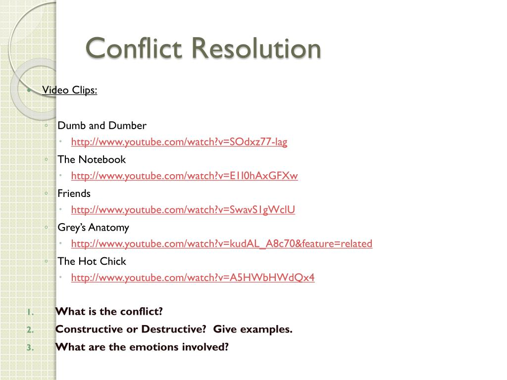 PPT - Understanding Conflict and Resolution PowerPoint