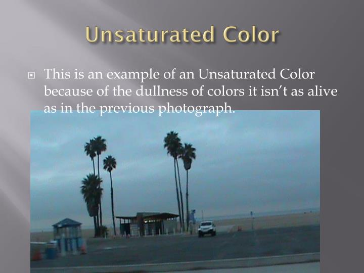 Unsaturated Color