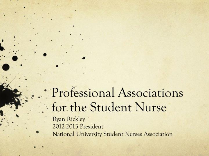professional associations for the student nurse n.