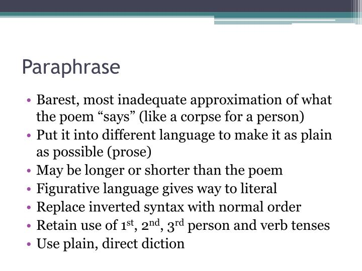 poem paraphrase Get an answer for 'paraphrase the poem the secret heart' and find homework help for other literature questions at enotes.