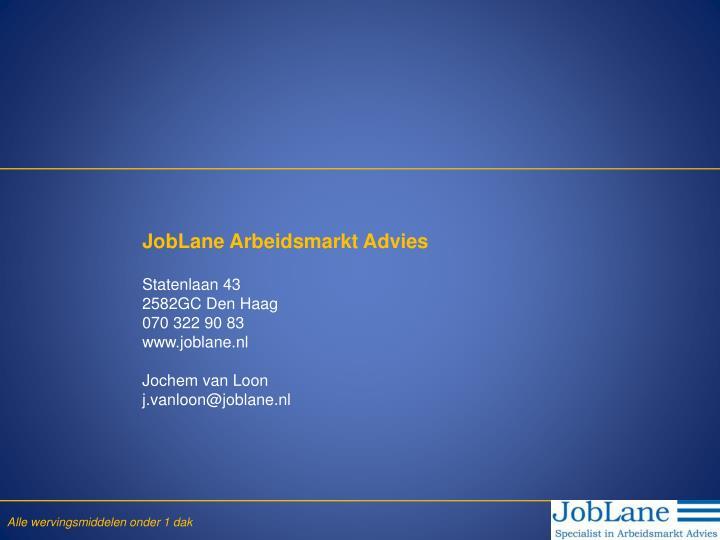 JobLane Arbeidsmarkt Advies