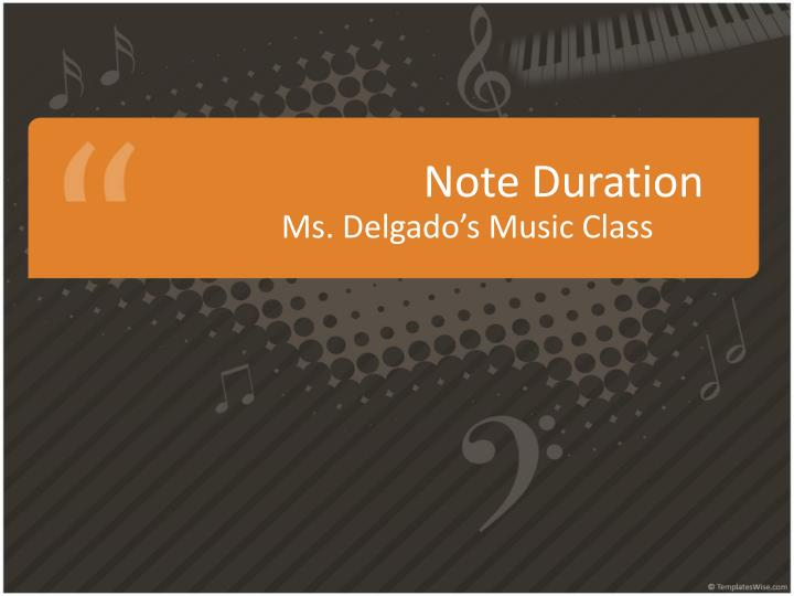 note duration n.